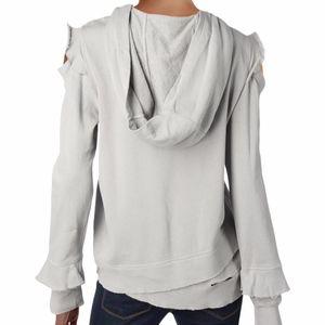 Wilt ruffled cold shoulder hooded sweatshirt XS